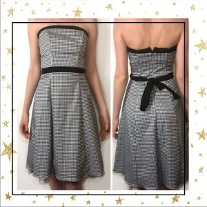 City Triangles Strapless Houndstooth dress (C3)
